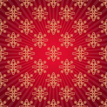 red damask vector background - Free vector #132880