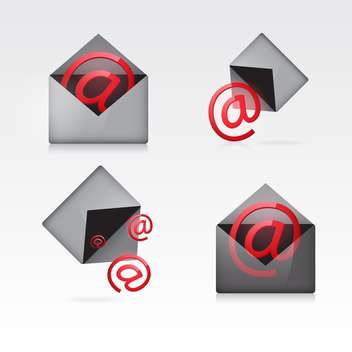vector e-mail icons set - vector gratuit #132900