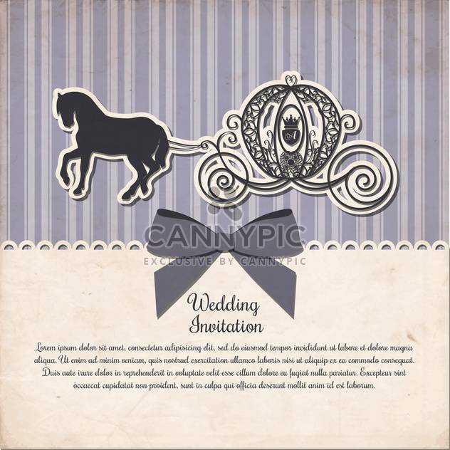 vintage horse carriage invitation template - Free vector #133000