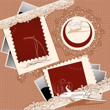 vector vintage photo frames set - vector #133030 gratis
