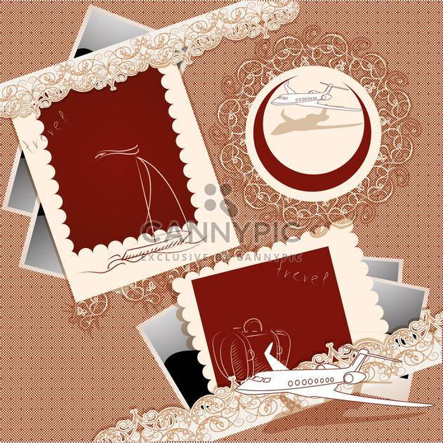 vector vintage photo frames set - Free vector #133030