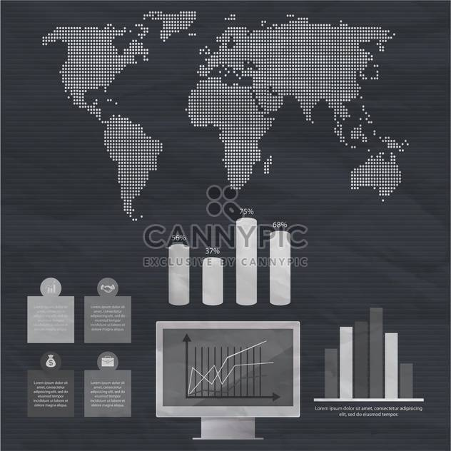 business infographic elements set - Free vector #133050
