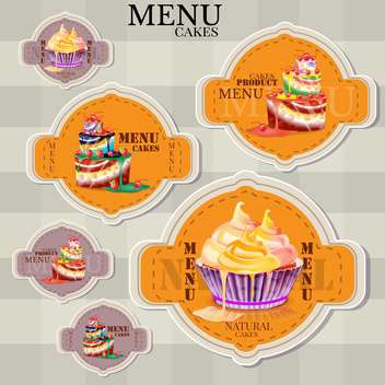 website design template for cafe or restaurant - Free vector #133110