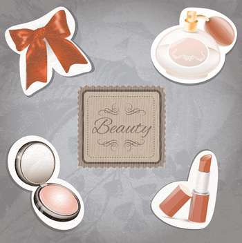 female cosmetic beauty set - Kostenloses vector #133120