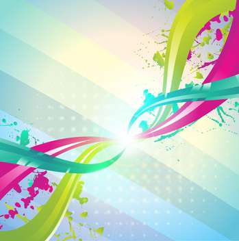 abstract colorful swirls background - vector gratuit #133130