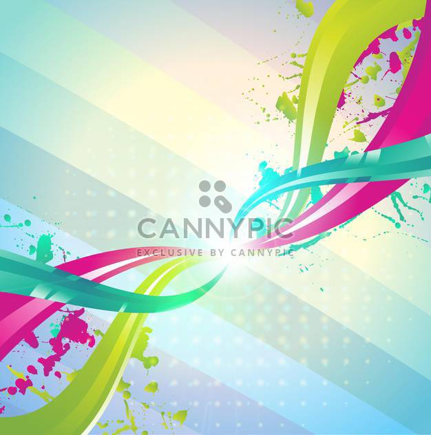abstract colorful swirls background - Free vector #133130
