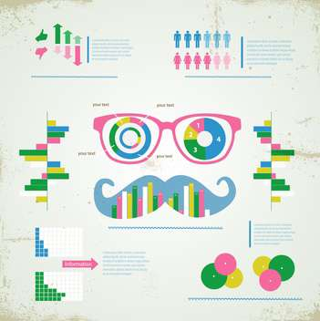 hipster infographic set background - vector #133140 gratis