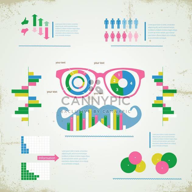Hipster Infographik festlegen Hintergrund - Free vector #133140
