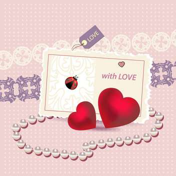 valentines card vector background - vector #133180 gratis