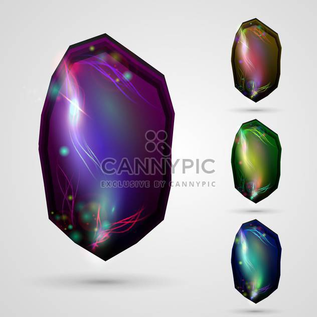 vector abstract glossy buttons - Free vector #133200