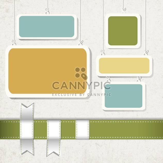 vintage frames set background - Free vector #133240