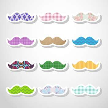 vector set of hipster mustache - vector gratuit #133280