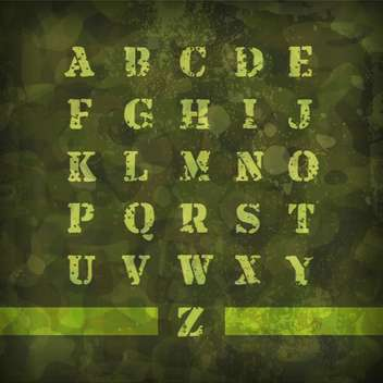 military vintage alphabet letters - Kostenloses vector #133310