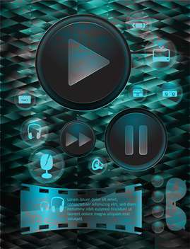 set of vector media player buttons - Free vector #133320