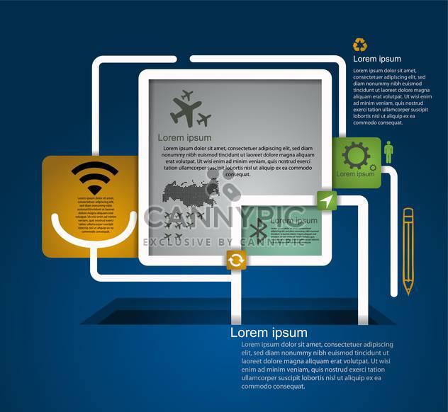 business retro infographics set - Free vector #133330