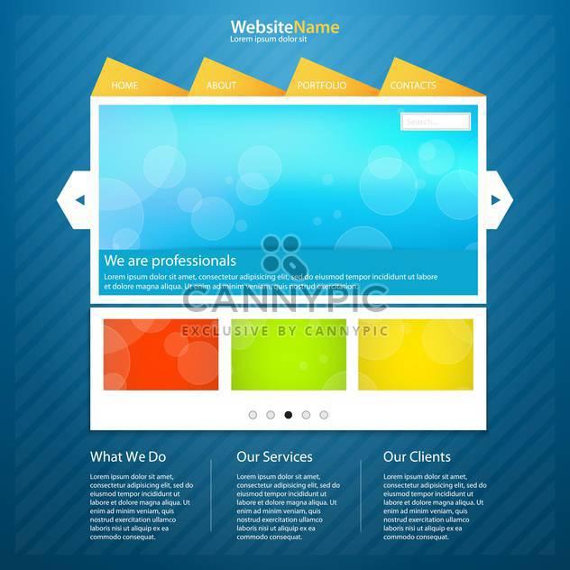 Vorlage von abstrakten Webseite Hintergrund - Kostenloses vector #133370
