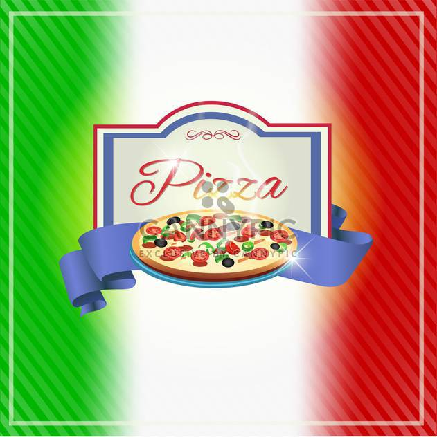 Pizza-Label-Design-Hintergrund - Free vector #133390