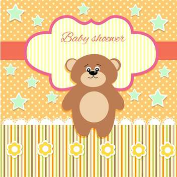 cute vector background with teddy bear - vector #133450 gratis