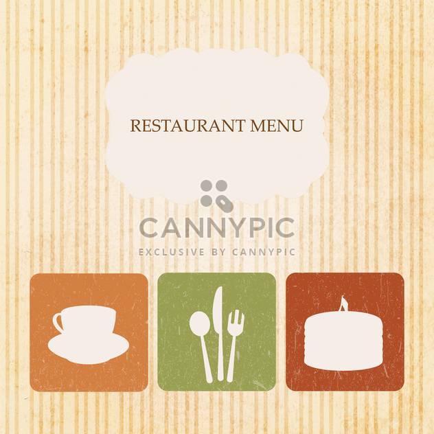 Vintage Restaurant-Menü-design - Kostenloses vector #133460