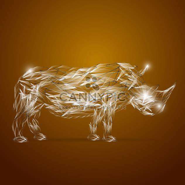 abstract glassy rhino animal - Free vector #133490