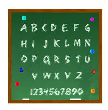 vector alphabet letters set background - Free vector #133500