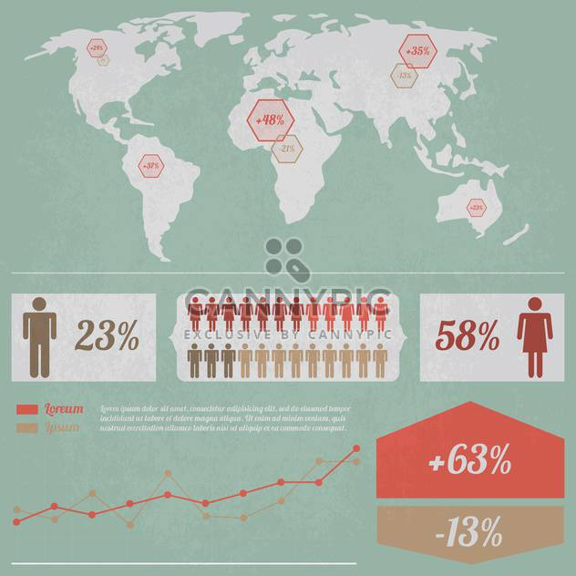 business population infographics set background - Free vector #133520