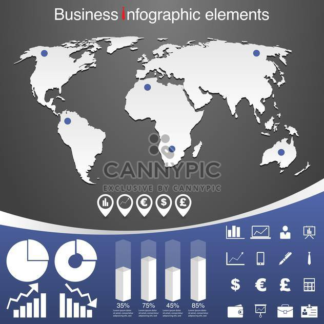 set of business infographic elements - Free vector #133540