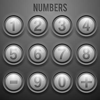 vector set of number buttons background - vector gratuit #133600