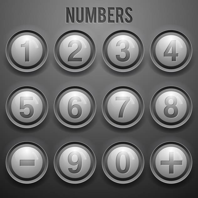 vector set of number buttons background - Free vector #133600