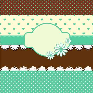 vintage vector background with hearts - Free vector #133620