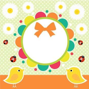 birth frame illustration background - vector gratuit #133630