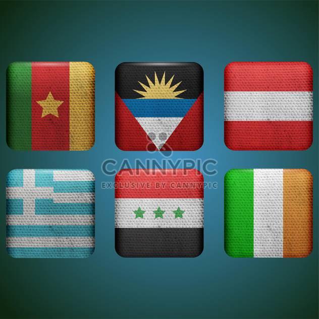 verschiedenen Ländern Fahnen set - Kostenloses vector #133650