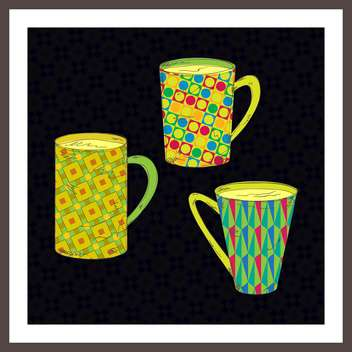 vector set of cups for tea or coffee - Free vector #133690