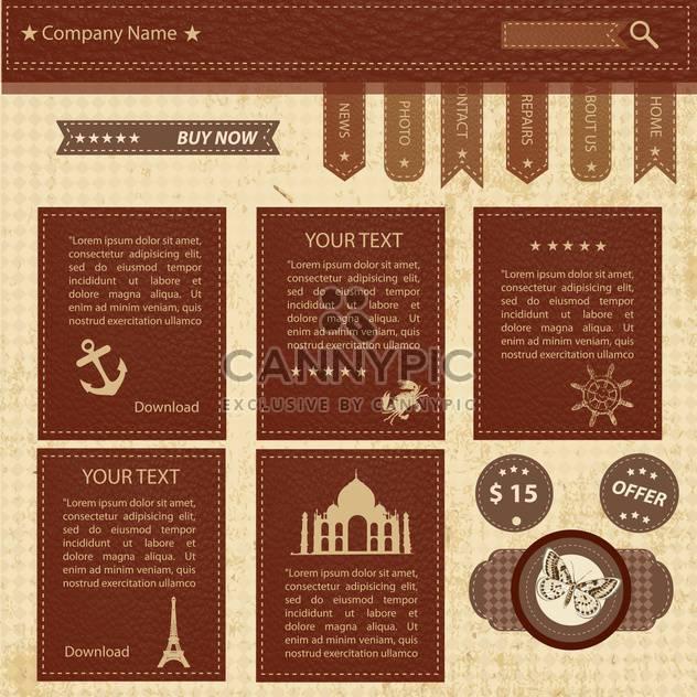vector website design template - Free vector #133720