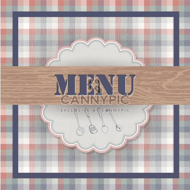vintage food menu background - Free vector #133730