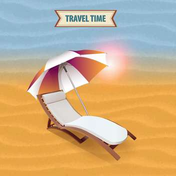 beach lounger on travel time background - vector #133790 gratis