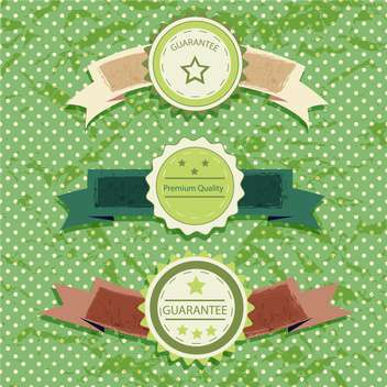 vintage labels on green background - vector gratuit #133800