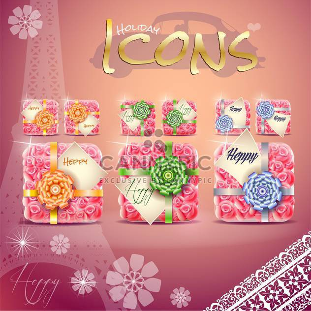 set of colorful gift boxes - Free vector #133900