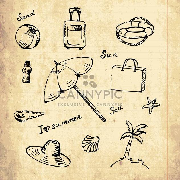 summer vacation holiday icons - Free vector #133950