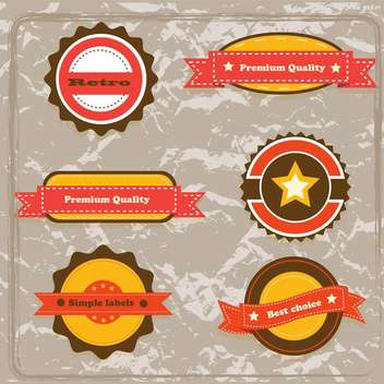 high quality labels collection - Free vector #133960