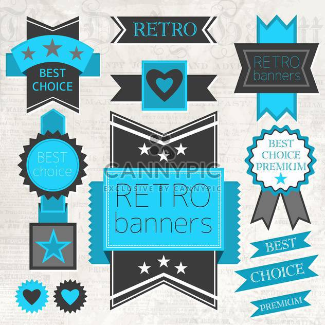 vector set of retro labels - Free vector #134010