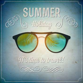 retro summertime vintage background - vector gratuit #134060