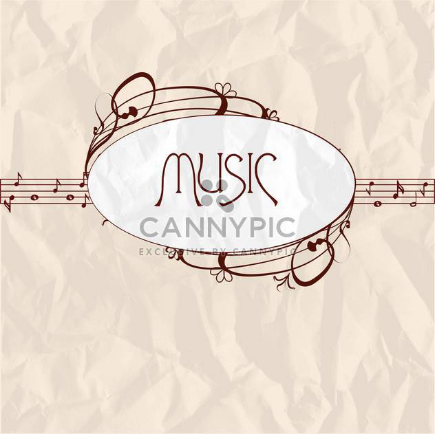 vintage music label background - Free vector #134070