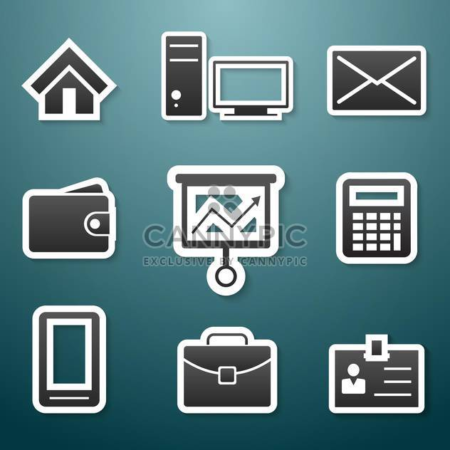 web icons set background - Free vector #134130
