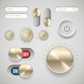 web player buttons set - Free vector #134200