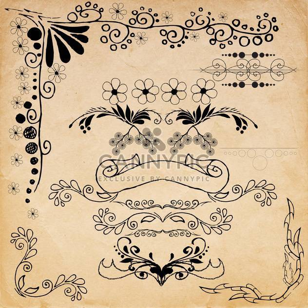 vintage design elements set - Free vector #134220