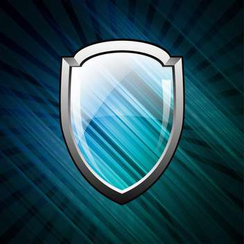 blank vector shield illustration - Kostenloses vector #134280