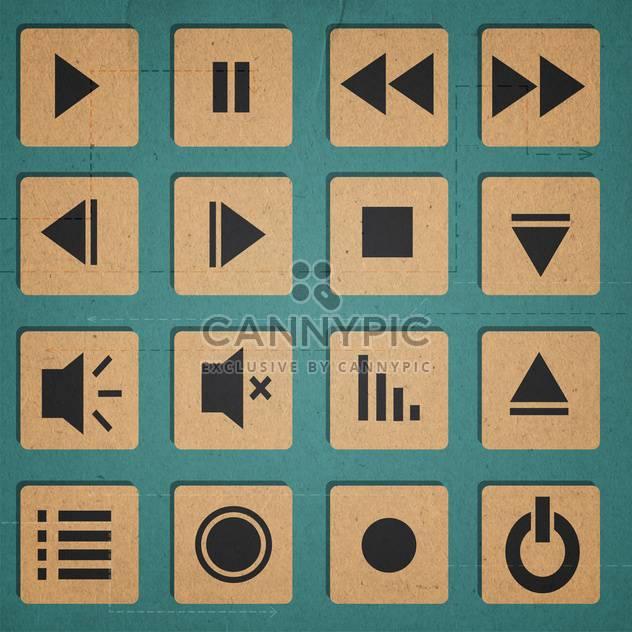 Media Player-Symbole-set - Free vector #134310