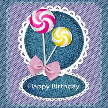 happy birthday sweet card background - vector gratuit #134330