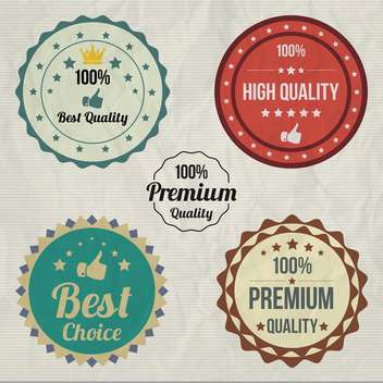 vintage sale signs set - vector gratuit #134380
